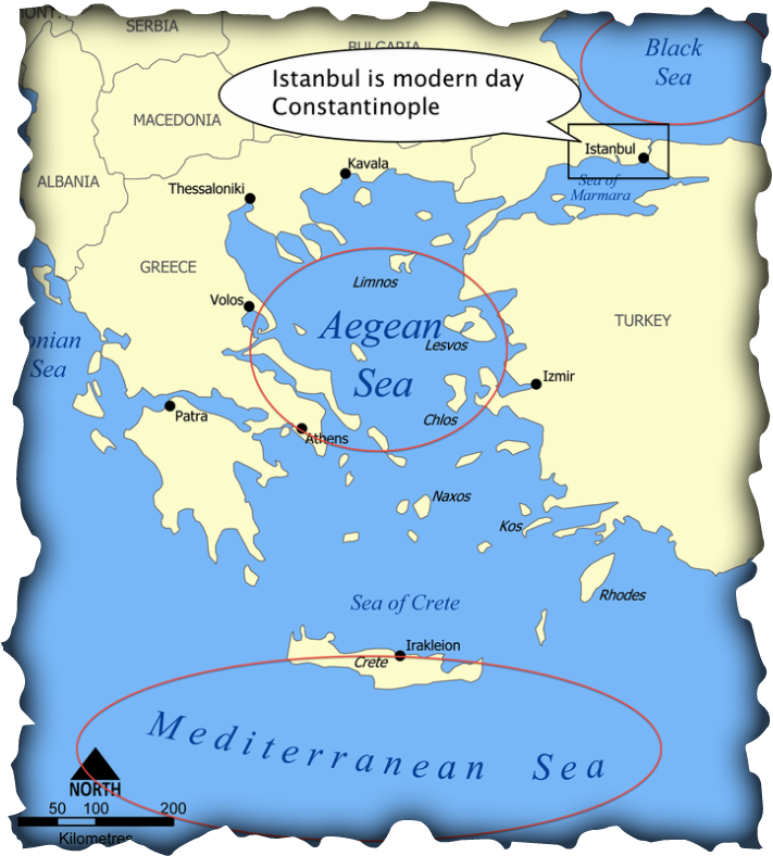 Geographic Features [Postivie] - Byzantine Empire